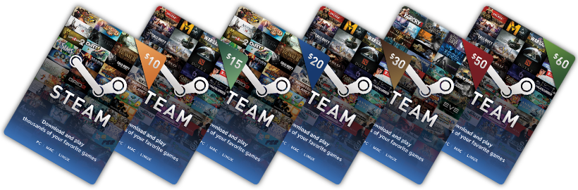 steam gift cards online